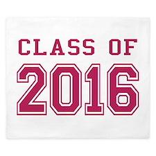 Class of 2016 (Pink) King Duvet