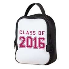 Class of 2016 (Pink) Neoprene Lunch Bag