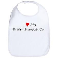 Love My British Shorthair Cat Bib