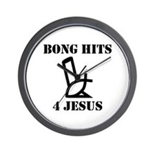 Bong Hits 4 Jesus Wall Clock