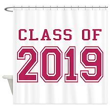 Class of 2019 (Pink) Shower Curtain