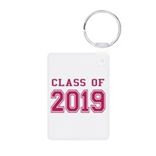 Class of 2019 (Pink) Aluminum Photo Keychain