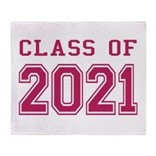 Class of 2021 (Pink) Throw Blanket
