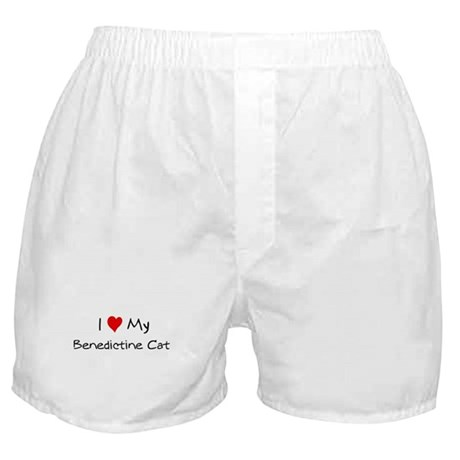 Love My Benedictine Cat Boxer Shorts