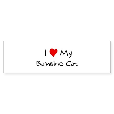 Love My Bambino Cat Bumper Sticker