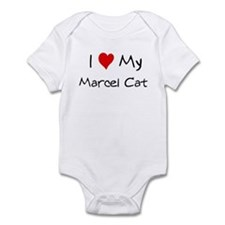 I Love Marcel Cat Infant Bodysuit
