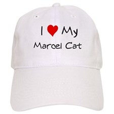 I Love Marcel Cat Baseball Cap
