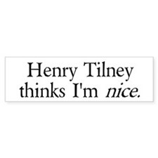 Henry Tilney Bumper Bumper Sticker