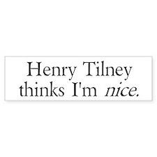 Henry Tilney Bumper Car Sticker