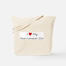 Love My Asian Longhair Cat Tote Bag