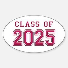 Class of 2025 (Pink) Sticker (Oval)