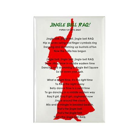 Jingle Bell RAQ! Rectangle Magnet