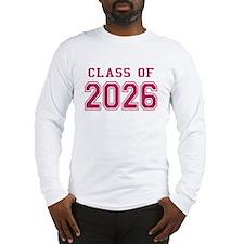 Class of 2026 (Pink) Long Sleeve T-Shirt