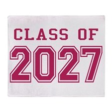 Class of 2027 (Pink) Throw Blanket