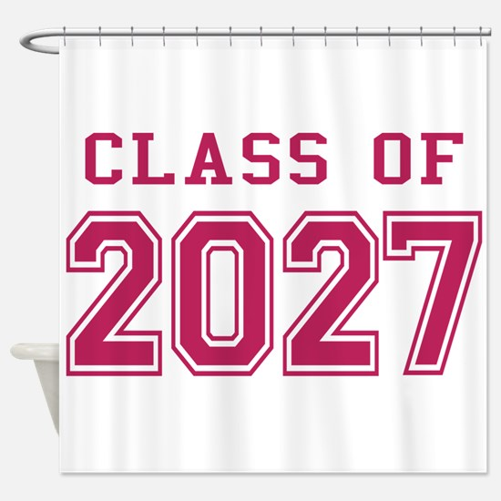 Class of 2027 (Pink) Shower Curtain