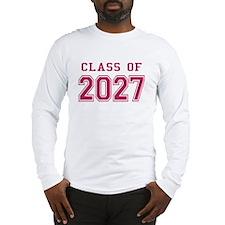 Class of 2027 (Pink) Long Sleeve T-Shirt