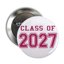 "Class of 2027 (Pink) 2.25"" Button"