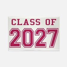 Class of 2027 (Pink) Rectangle Magnet