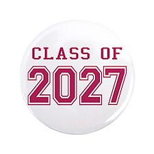 "Class of 2027 (Pink) 3.5"" Button"