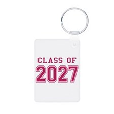 Class of 2027 (Pink) Aluminum Photo Keychain