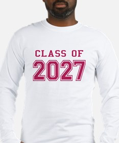 Class of 2027 (Pink) Long Sleeve T-Shirt