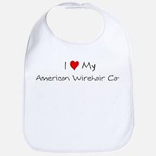 Love My American Wirehair Cat Bib