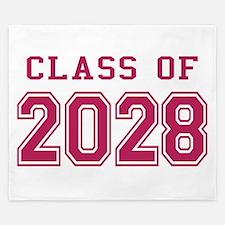 Class of 2028 (Pink) King Duvet