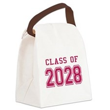 Class of 2028 (Pink) Canvas Lunch Bag