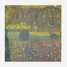 Country House by Gustav Klimt Tile Coaster