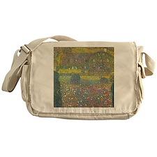 Country House by Gustav Klimt Messenger Bag