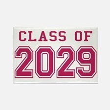 Class of 2029 (Pink) Rectangle Magnet