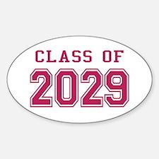 Class of 2029 (Pink) Sticker (Oval)