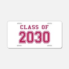 Class of 2030 (Pink) Aluminum License Plate