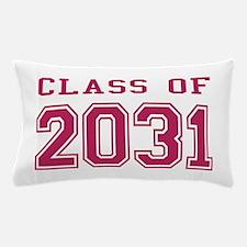 Class of 2031 (Pink) Pillow Case