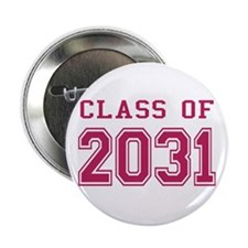 "Class of 2031 (Pink) 2.25"" Button"