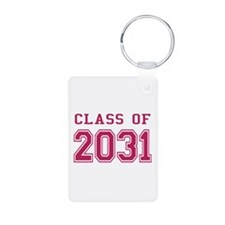 Class of 2031 (Pink) Aluminum Photo Keychain