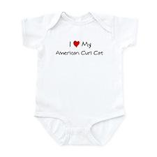 Love My American Curl Cat Infant Bodysuit