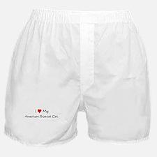Love My American Bobtail Cat Boxer Shorts