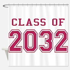 Class of 2032 (Pink) Shower Curtain