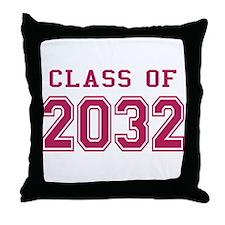 Class of 2032 (Pink) Throw Pillow