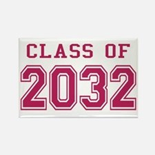 Class of 2032 (Pink) Rectangle Magnet