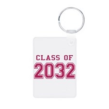 Class of 2032 (Pink) Aluminum Photo Keychain