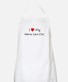 Love My Alpine Lynx Cat BBQ Apron