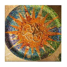 Park Guell Barcelona Tile Coaster