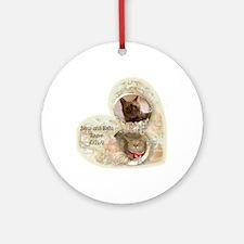 Boris and Bella forever Round Ornament