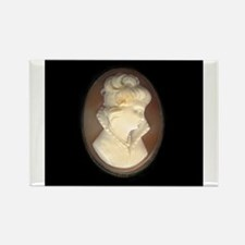 Cameo Brooch Rectangle Magnet