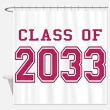 Class of 2033 (Pink) Shower Curtain