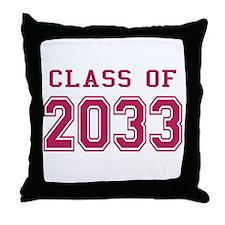 Class of 2033 (Pink) Throw Pillow