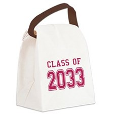 Class of 2033 (Pink) Canvas Lunch Bag