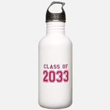 Class of 2033 (Pink) Water Bottle